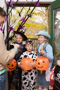 Trick or treaters Stock Photos