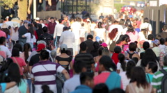 People walking in Chapultepec park. Stock Footage