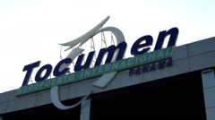 Tocumen International Airport in Panama - stock footage