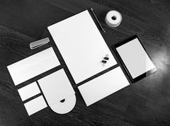 Blank branding identity Stock Photos