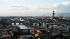 Sunset view of Florence, Italy, EU, Europe - stock footage
