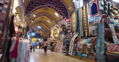 Central and largest city in the Grand Bazaar Stock Footage