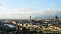 Stock Video Footage of Sunset view of Florence, Italy, EU, Europe