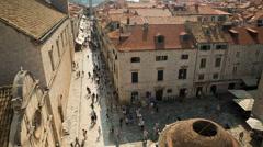 Tilt shot of the UNESCO Old City of Dubrovnik Stock Footage