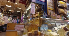 Egyptian market stores and pastry spice sweets Stock Footage