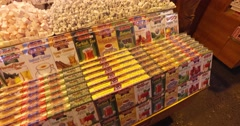 Egyptian market stores and pastry spice sweets - stock footage
