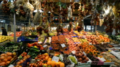 Mercato Centrale market in Florence, Italy. Stock Footage