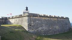 Puerto Rico tourist destination Landmark El Morro, Castillo San Felipe Del Morro Stock Footage