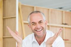 Enthusiastic man Stock Photos