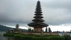 Temple Pura Ulun Danu Bratan Stock Footage