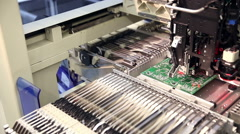 Automated electronics parts manufacturing line Arkistovideo