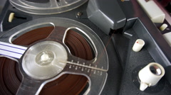 1960s Philips four track tape recorder #8 Stock Footage