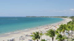 Isla Verde Beach in San Juan Puerto Rico - Tourist Vacation Travel Destination - stock footage