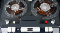 1960s Philips four track tape recorder #4 - stock footage