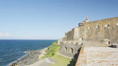 Puerto Rico tourist destination Landmark castle El Morro Stock Footage