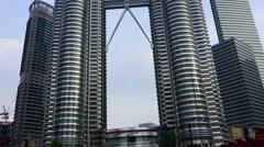 Petronas Twin Towers at Kuala Lumpur, timelapse Stock Footage