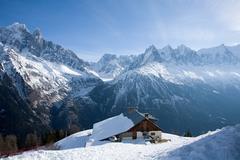 House on top of mountain - stock photo