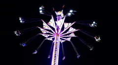 Stock Video Footage of Fair ride shot at the West Coast Amusements Carnival