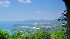 Kata and Karon beaches, Phuket, timelapse Stock Footage