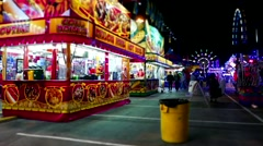 Food booth at the West Coast Amusements Carnival - stock footage