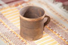 Traditional handcrafted mug - stock photo