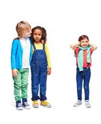 Friends in kindergarten - stock photo