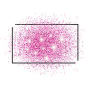 Frame for text and brilliant pink sand - stock illustration