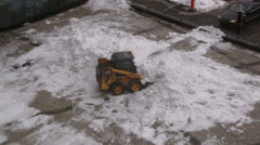 Snow Removal. Cleaning Machinery Removes Snow Stock Footage