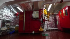Foam room of very large crude oil carrier. Stock Footage