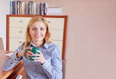 Nothing like caffeinne to get you going Stock Photos
