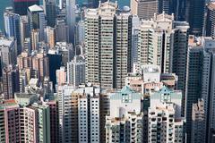 Hong kong buildings Stock Photos