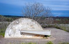 water trough of a consortium of drainage in the Apulia countryside - stock photo