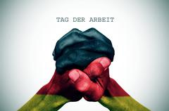 text tag der arbrit, labour day in German - stock photo