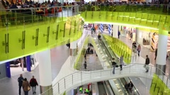 Shopping center Troika. On complex are located more than 100 stores Stock Footage