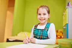 Fun pre-school activities - stock photo