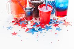 drinks on american independence day party - stock photo