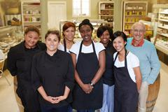 The awesome deli team - stock photo