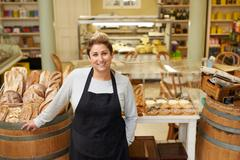 Ask her for all your pastry needs Stock Photos