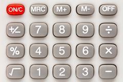 Calculator keypad. - stock photo