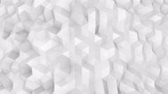 White polygonal surface 3D render seamless loop 4k (4096x2304) - stock footage