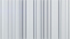 White vertical stripes 3D rendering 4k UHD (3840x2160) Stock Footage