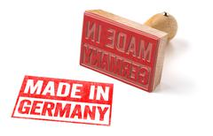 A rubber stamp on a white background - Made in Germany - stock photo