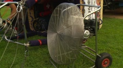 Stock Video Footage of Great fan to introduce cold air in the hot air balloon