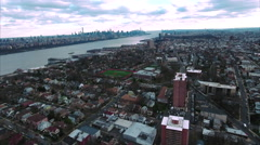 Cliffside Park NJ Flyover Buildings With Apartment Complexes Stock Footage