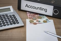 Accounting written on a binder - stock photo