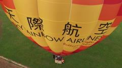 View from the air of a hot air balloon Stock Footage