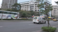Ambulance on its way to emergency in Taipei, Taiwan (medicine health care) Arkistovideo