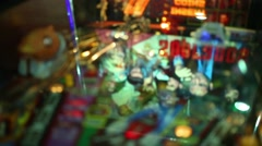 Pinball with illumination in Beverly Hills Diner Stock Footage