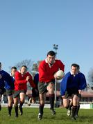 Men playing rugby Stock Photos