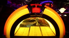 Illuminated Jukebox in Beverly Hills Diner - network of restaurants Arkistovideo